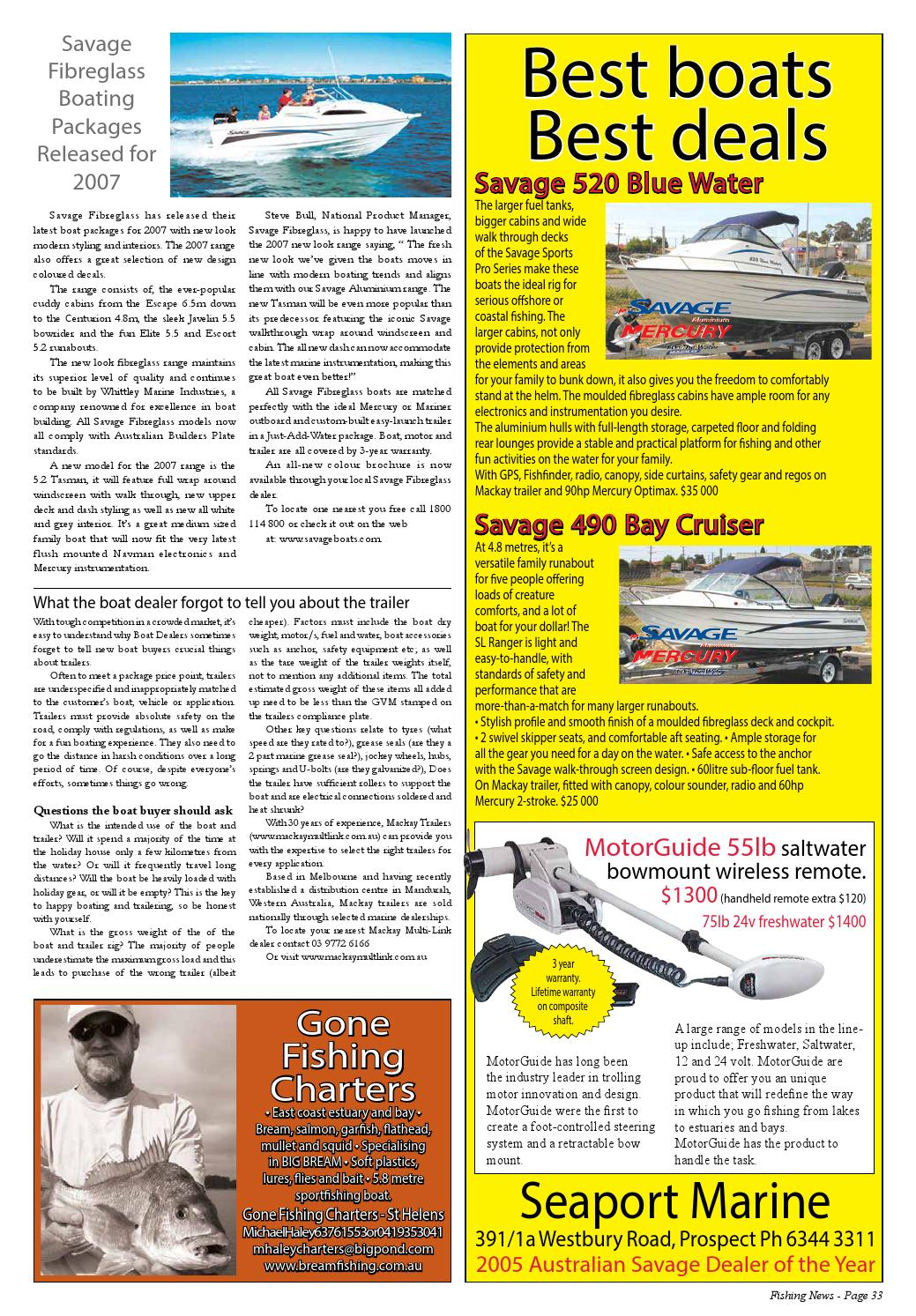 Tasmanian Fishing And Boating News Issue 065 2006 December