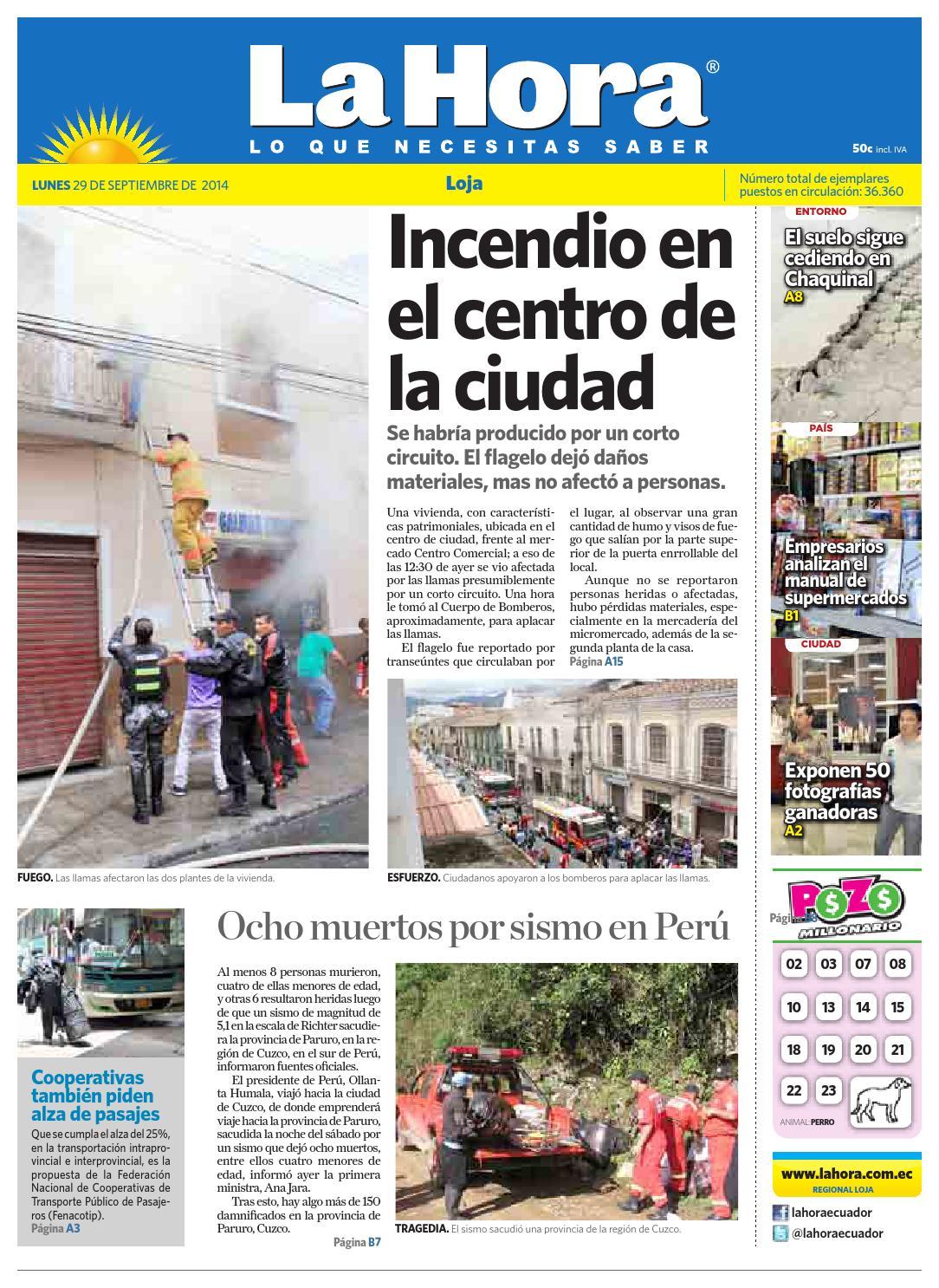 Actriz Porno Daniela Morochola diario la hora loja 29 de septiembre 2014la hora ecuador