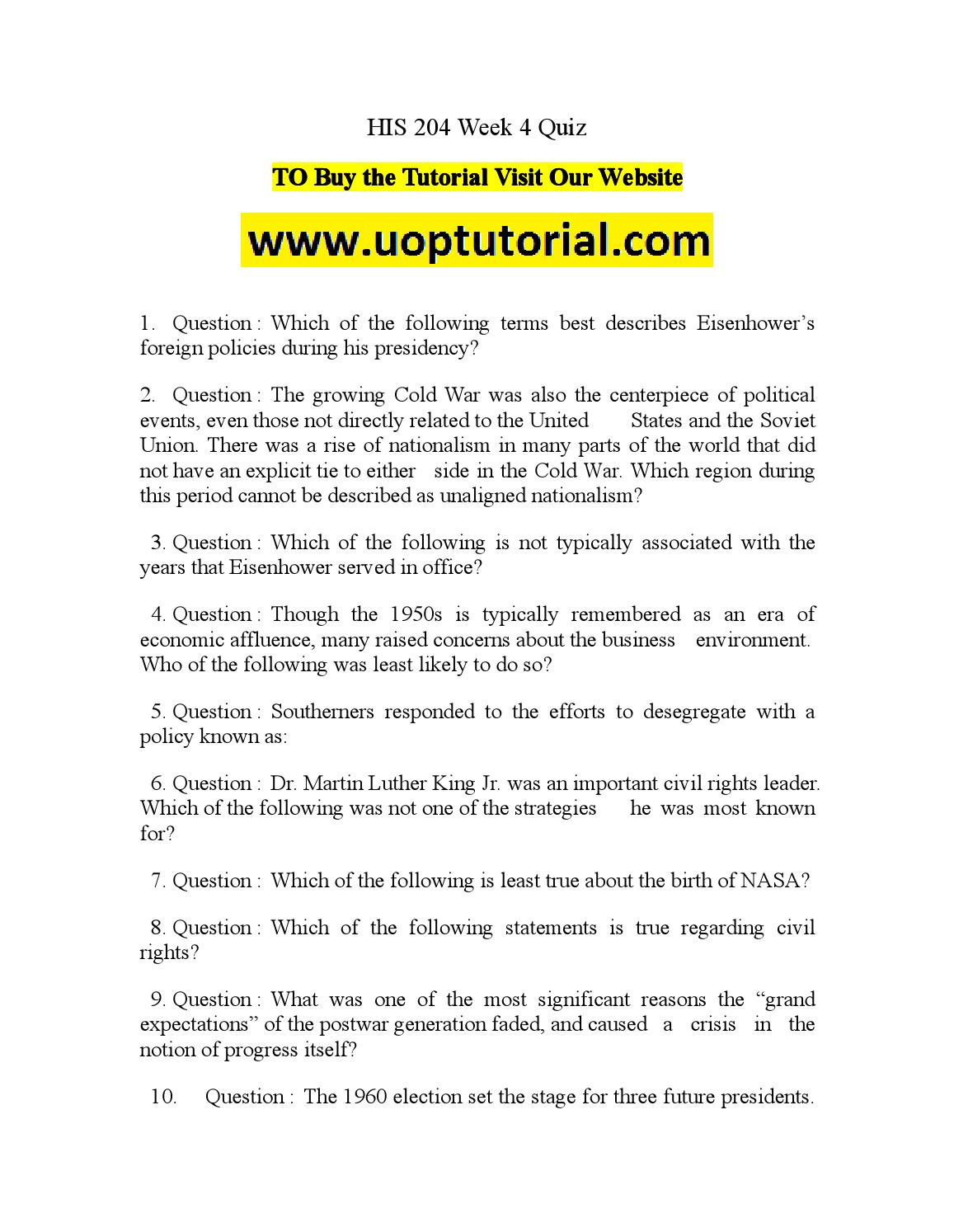 his 204 week 4 quiz Flipsnack is a digital catalog maker that makes it easy to create, publish and share html5 flipbooks upload a pdf or design from scratch flyers, magazines, books and more author: 97e77debdc9, catalog: his 204 week 4 quiz, published: dec 16, 2015.