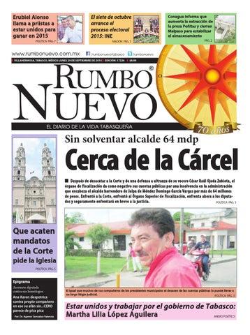 Rumbo Nuevo Lunes 29 de Septiembre de 2014 by Grupo Rumbo Nuevo - issuu