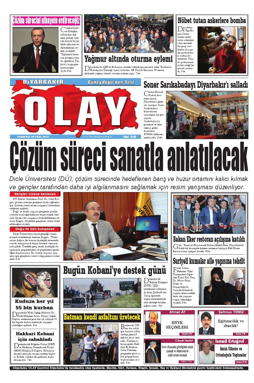 29 09 2014 Gazete Sayfalari By Diyarbakir Olaygazetesi Issuu