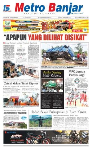Metro Banjar Senin, 29 September 2014