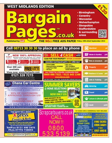 f4848a15738bbf Bargain Pages West Midlands, September 19th 2014 by Loot - issuu