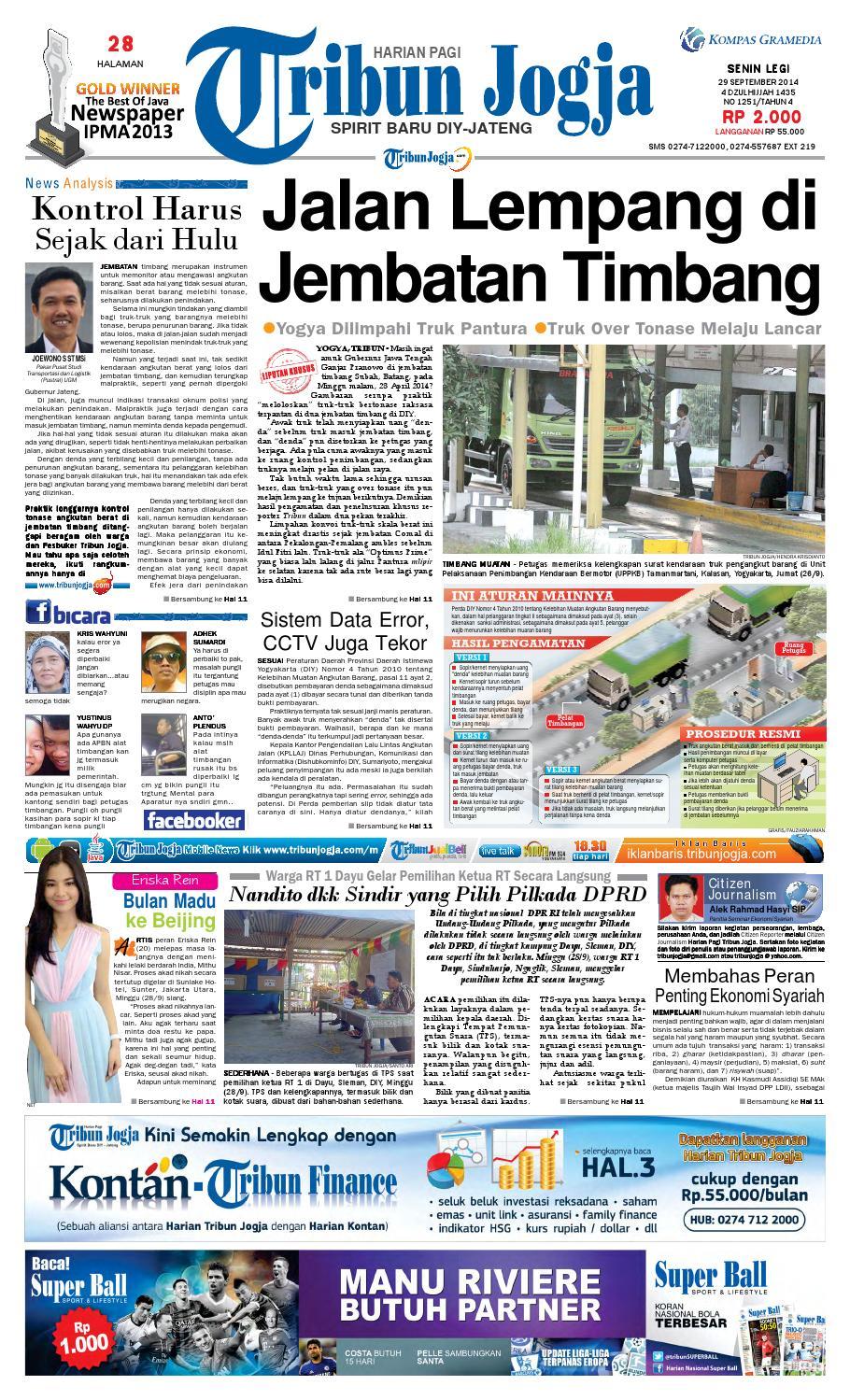 Tribunjogja 29 09 2014 By Tribun Jogja Issuu Stiker Pelengkap Astrea 800