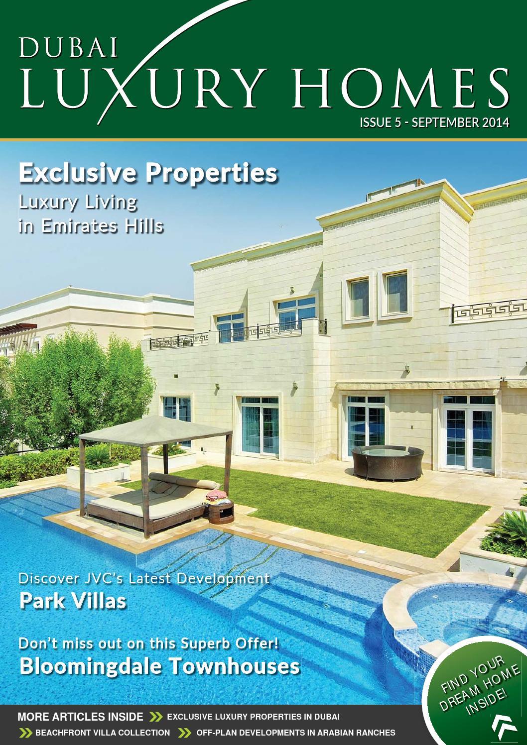 Dubai luxury homes issue 05 by dubai luxury homes issuu for Dubai luxury homes photos