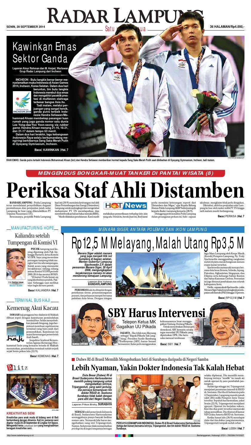 Radar Lampung Senin 29 September 2014 By Ayep Kancee Issuu Produk Ukm Bumn Handbody