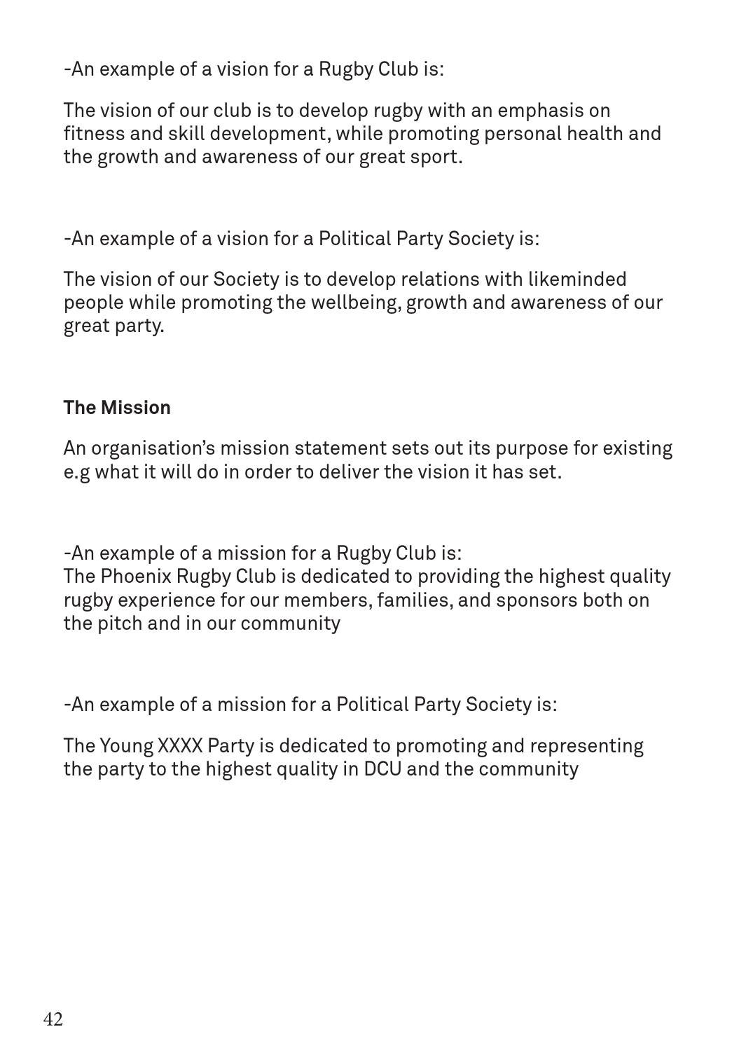 Mission Statement Examples Fitness Centre