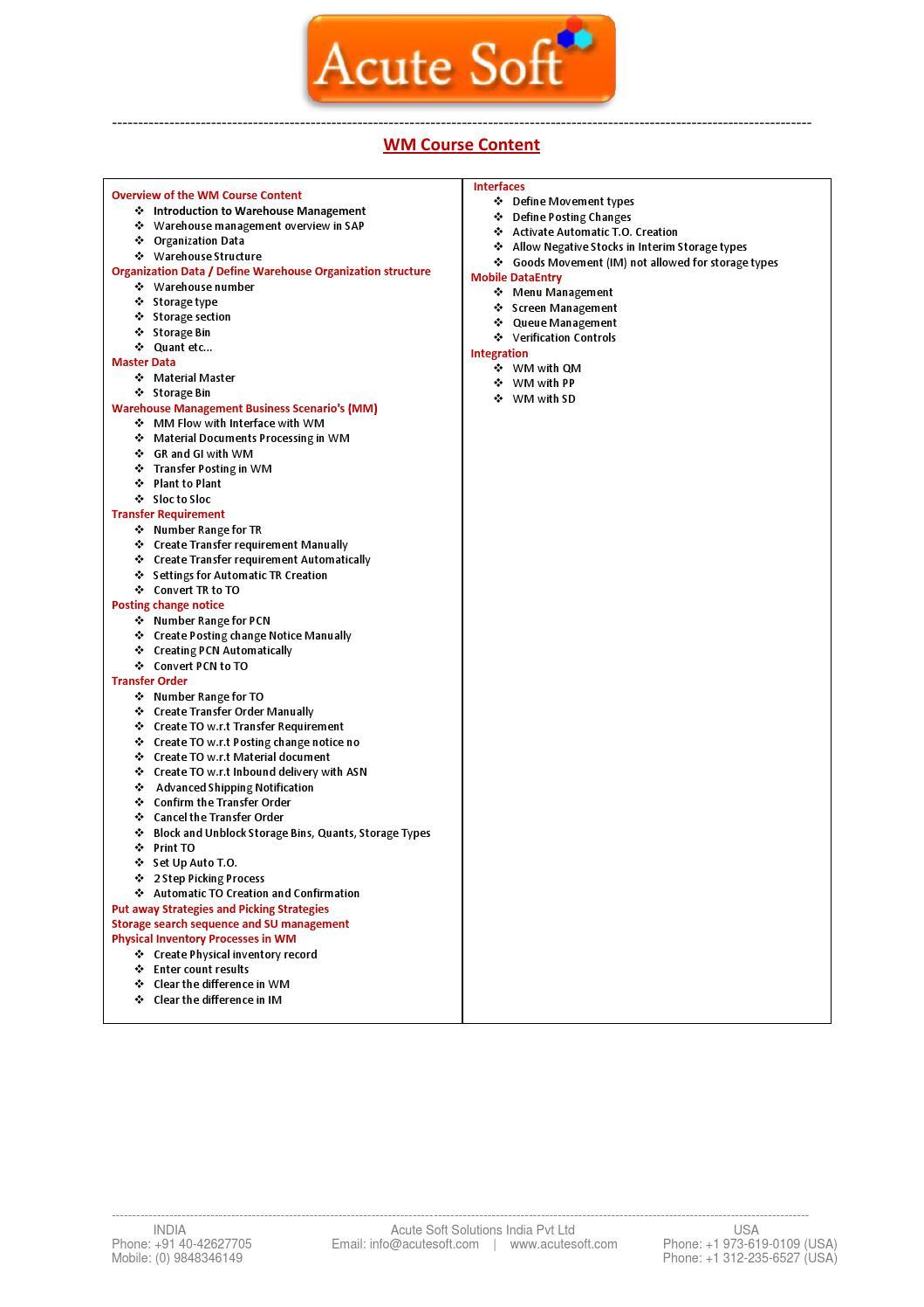 Sap wm pdf by acutesoft038 - issuu