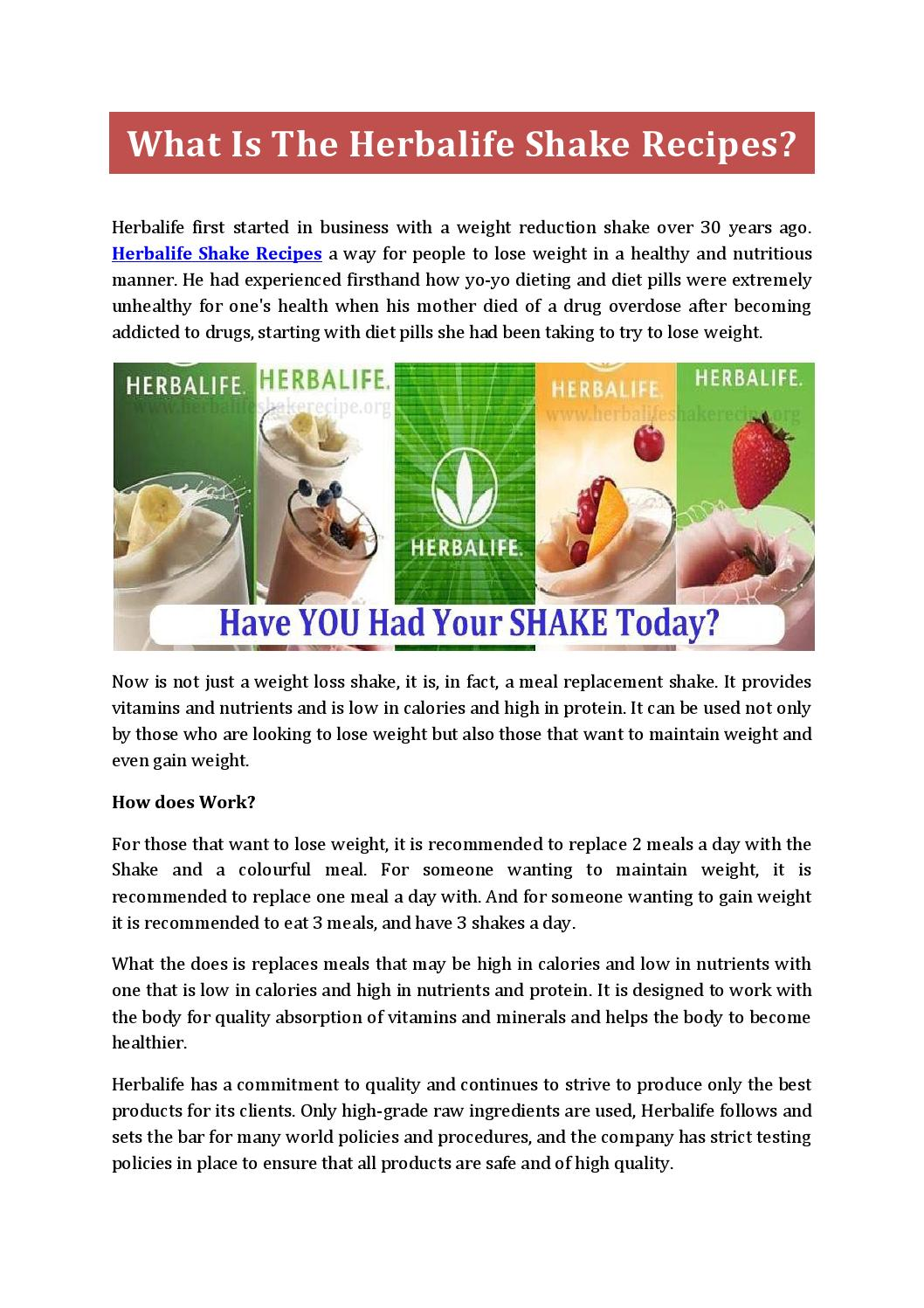 Herbalife Steps To Success: Step-by-step Plan To Lose Weight With Herbalife Shakes By
