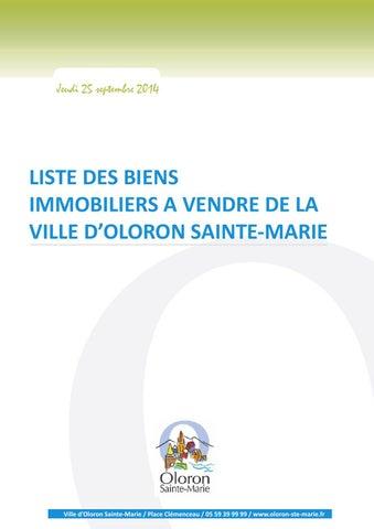 liste des biens immobiliers vendre de la ville d 39 oloron sainte marie by sarah rebouh issuu. Black Bedroom Furniture Sets. Home Design Ideas