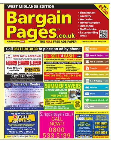 d2d68881db Bargain Pages Birmingham 23rd September 2014 by Loot - issuu