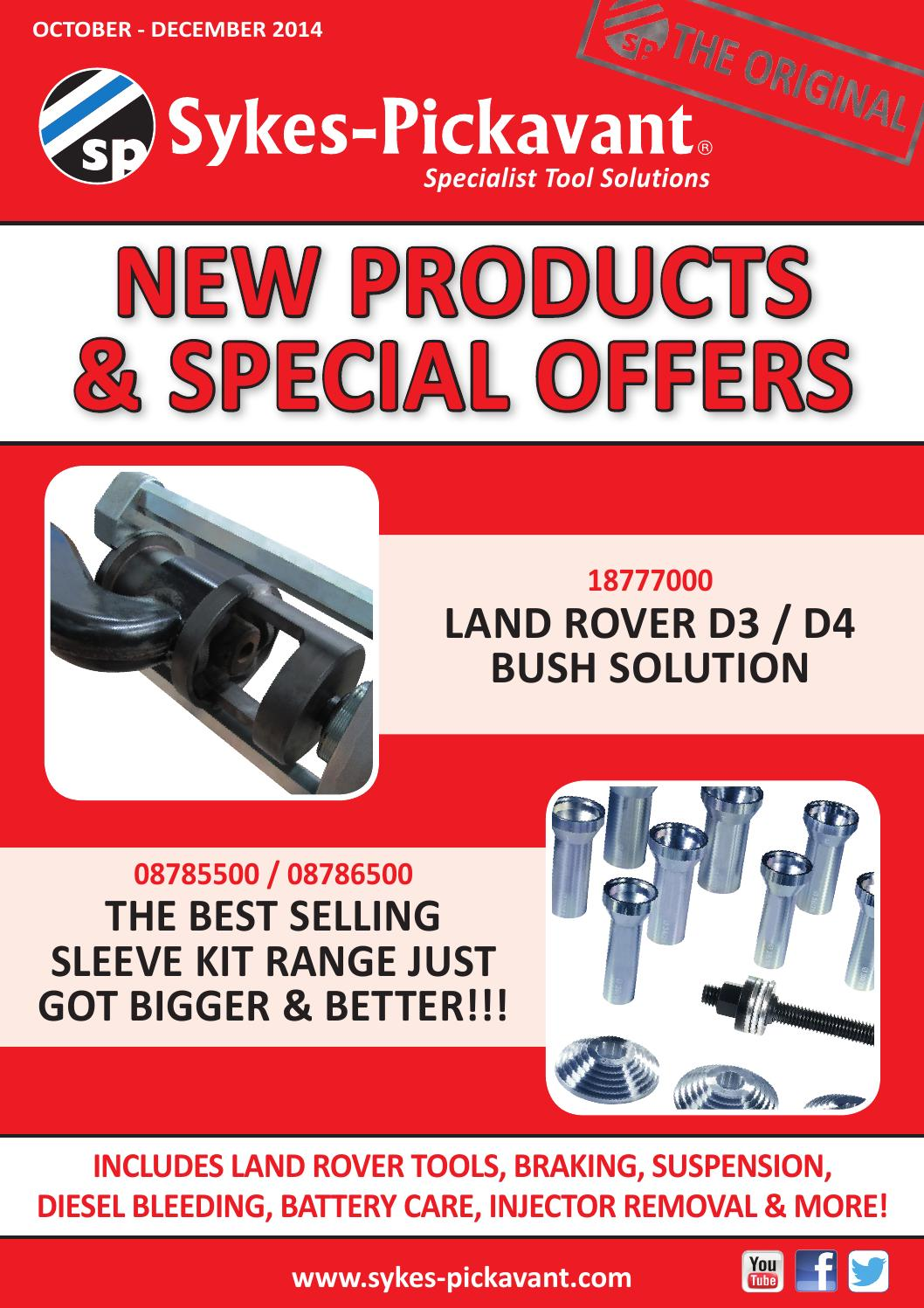 Sykes 18777300 Land Rover Discovery 3 /& 4 Suspension Bush    Rear Lower Kit
