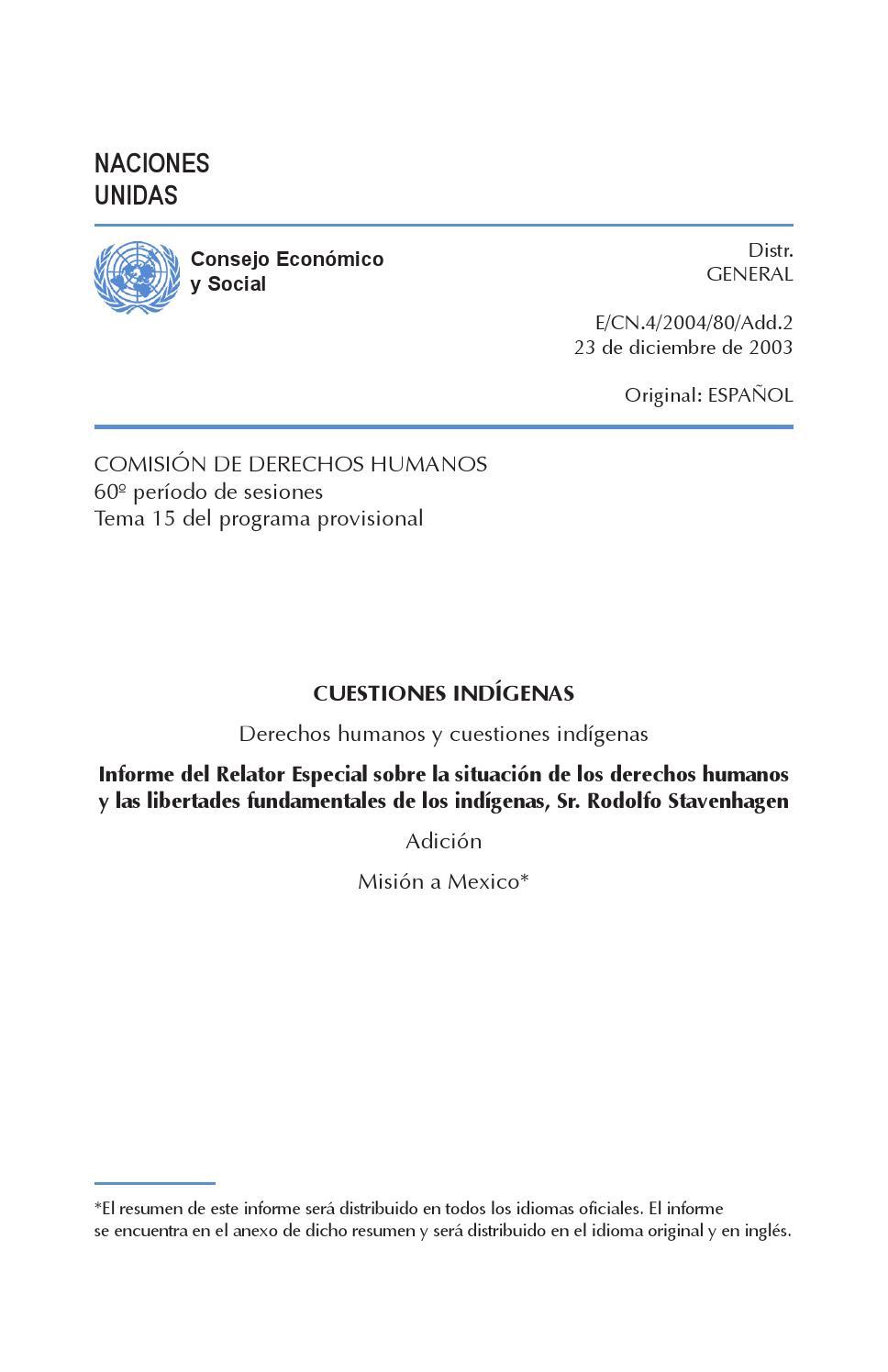 Derechos humanos y cuestiones indígenas by ONU-DH México - issuu
