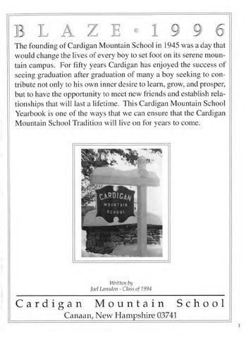 The blaze 1996 by cardigan mountain school issuu h the founding of cardigan mountain school in 1945 was a day that would change the lives of every boy to set foot on its serene moun tain campus fandeluxe Image collections
