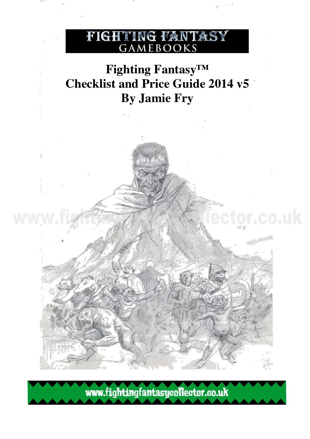 Fighting Fantasy Gamebooks checklist and price guide 2014 by Jamie Fry -  issuu