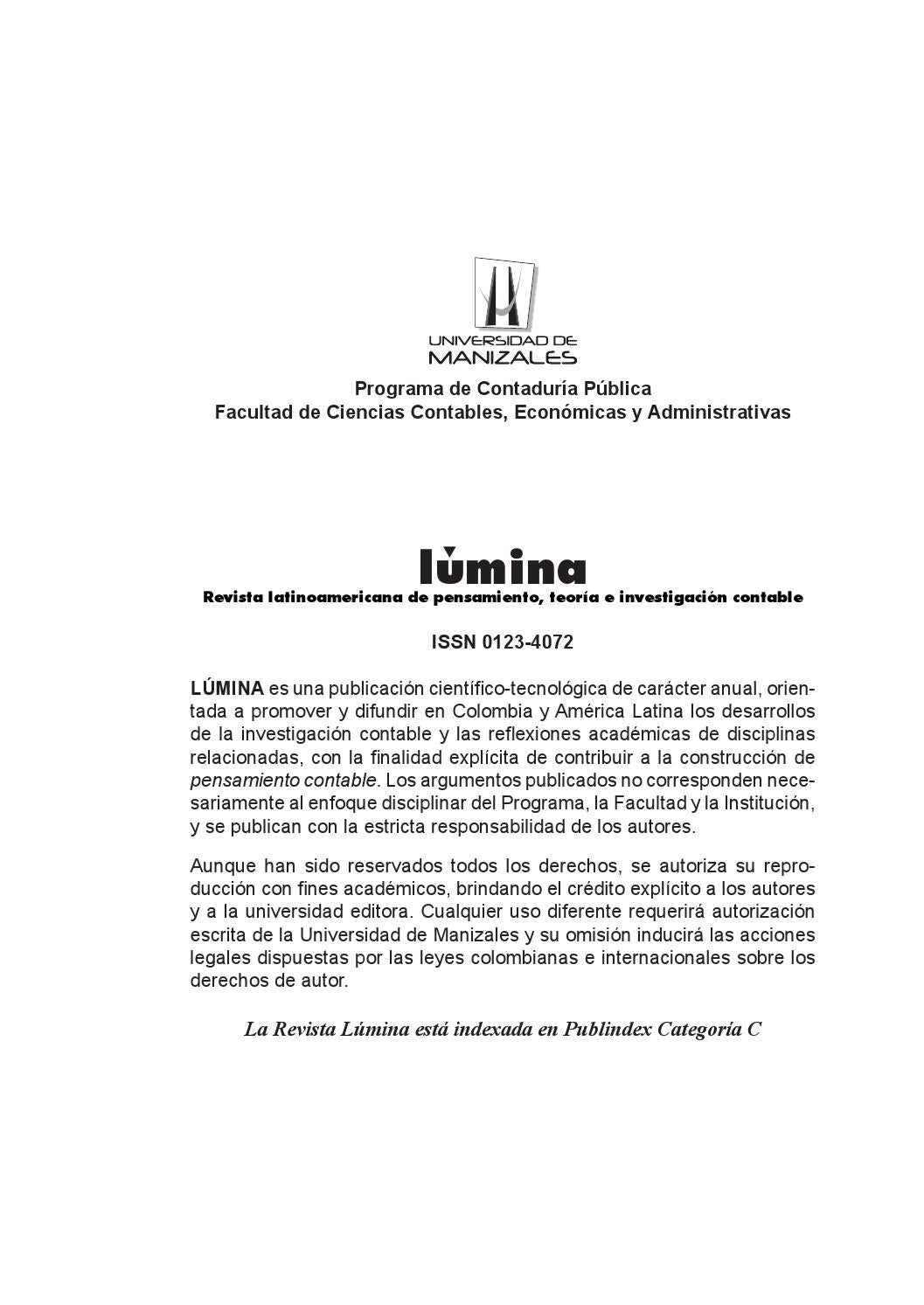 Lumina 14 by Universidad de Manizales - issuu