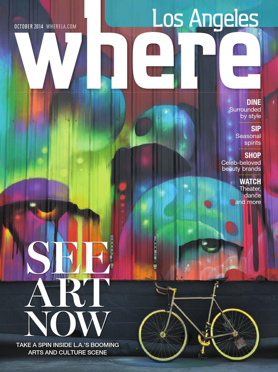 abd3284fb9416 WHERE Los Angeles Magazine October 2014 by SoCalMedia - issuu