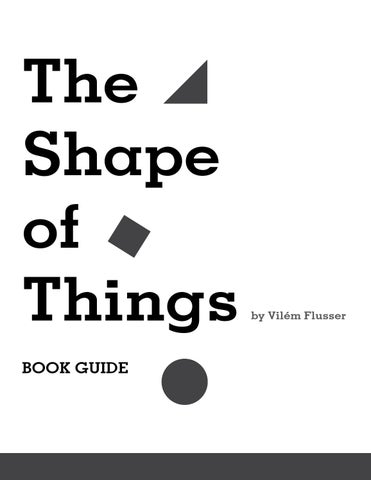 FLUSSER THE SHAPE OF THINGS EPUB DOWNLOAD