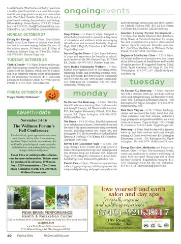 Natural Awakenings of Central Ohio - October 2014 issue by