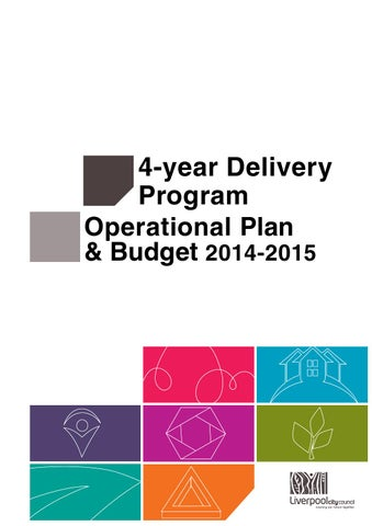 4 year deliveryprogram and 1 year operational plan and