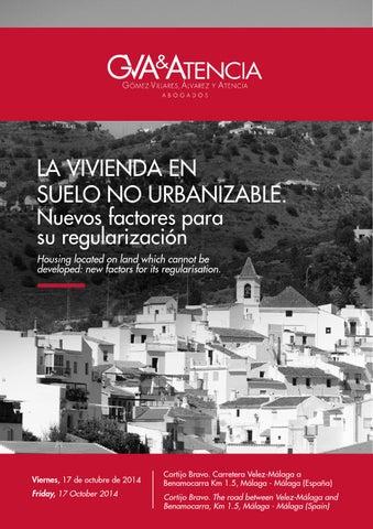 Programa de la jornada la vivienda en suelo no for Suelo no urbanizable