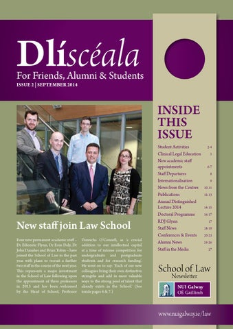 37f5ec1c6014 NUI Galway School of Law Newsletter 2014 by SchoolofLaw - issuu