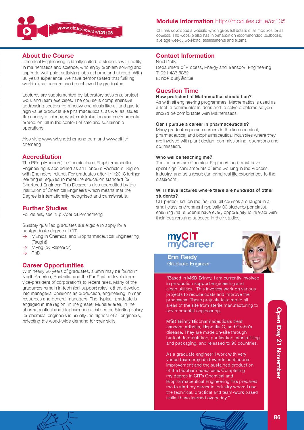 CIT Full-Time Handbook Entry 2015