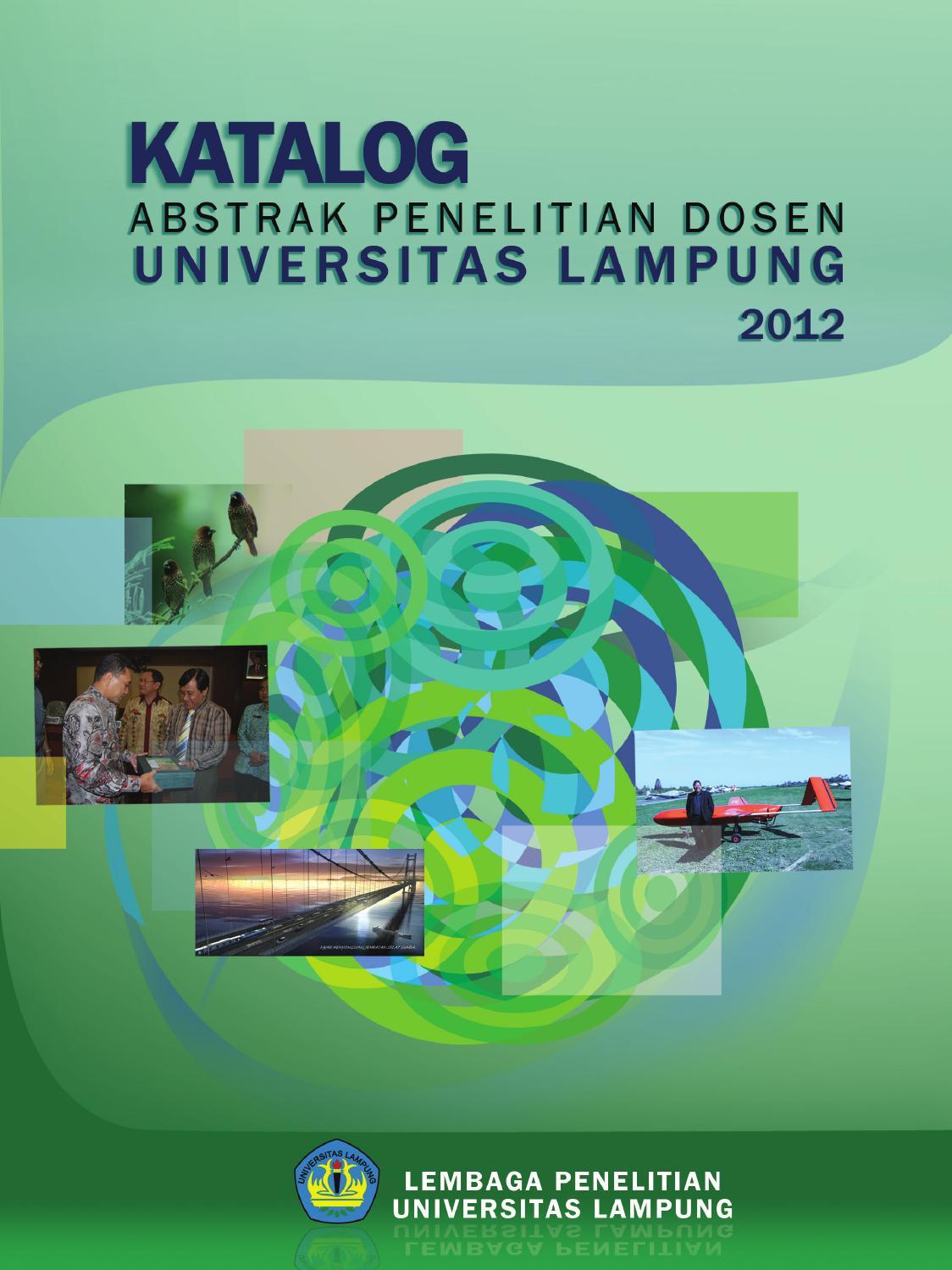 Katalog Abstrak Penelitian Dosen Universitas Lampung 2012 By Aprohan Saputra Issuu