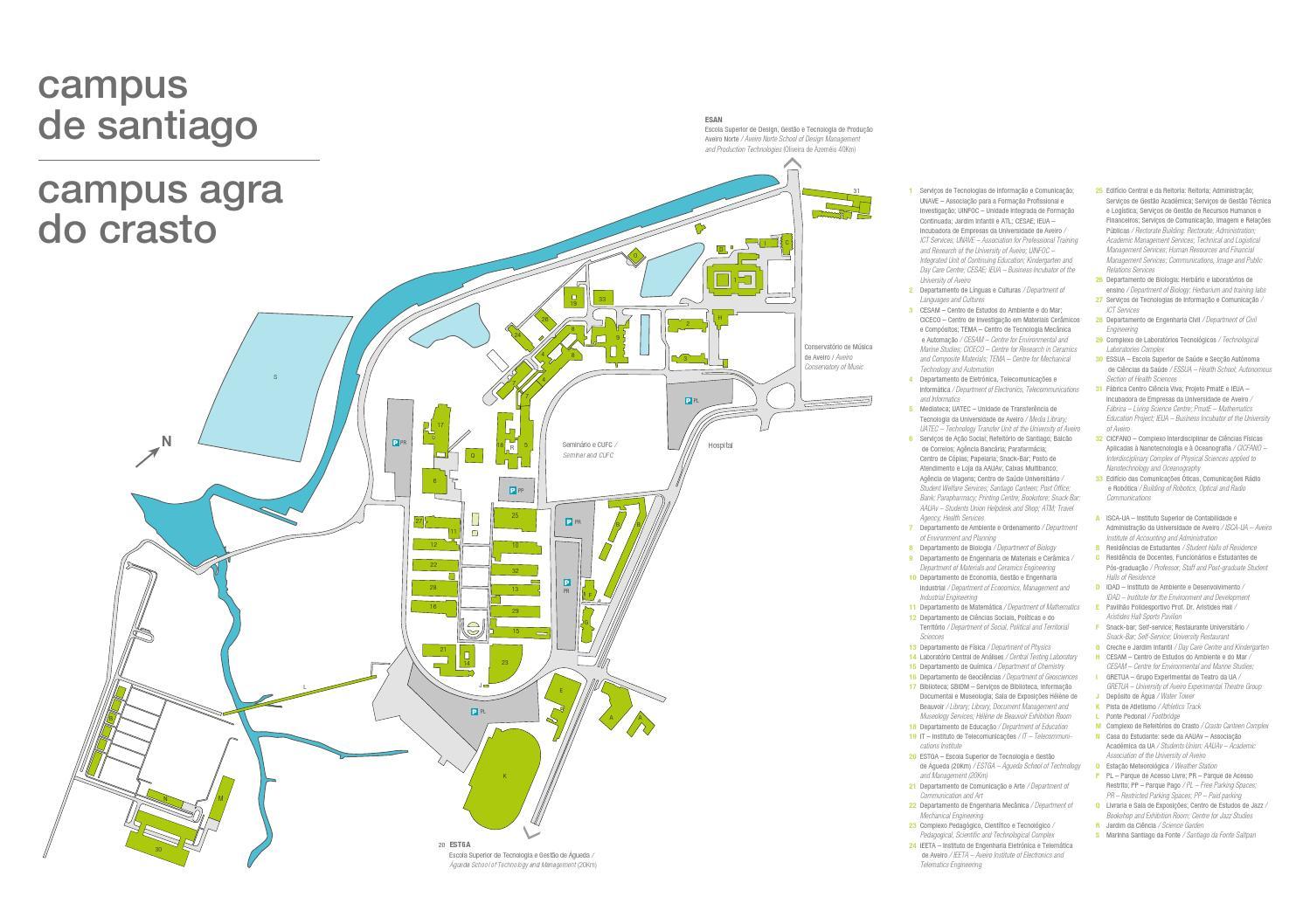 mapa da universidade de aveiro Mapa do Campus by Universidade de Aveiro   issuu mapa da universidade de aveiro