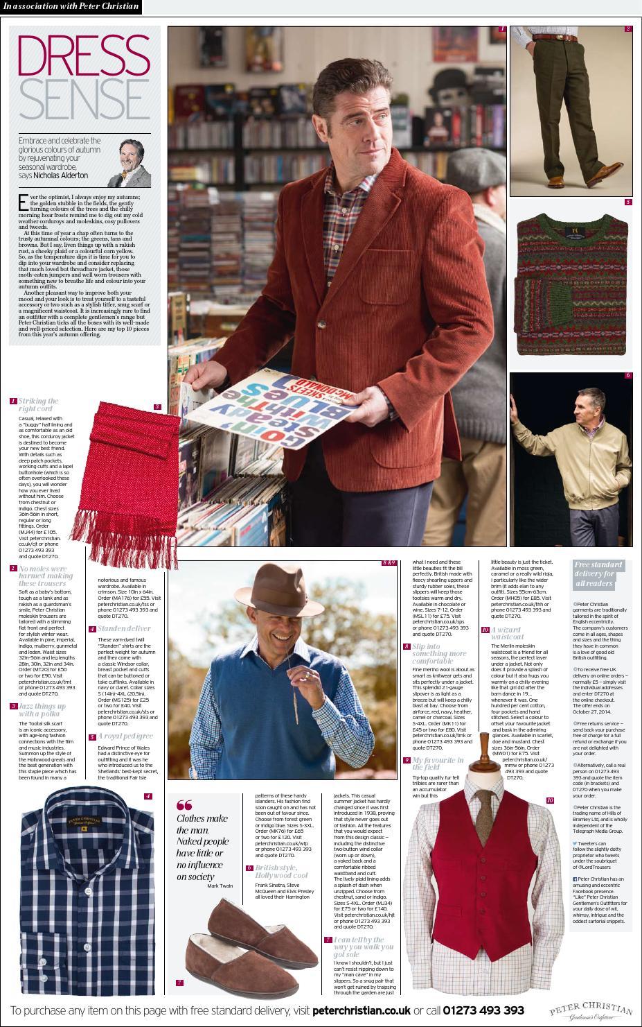 901dad04c9ffd9 Peter Christian Daily Telegraph Dress Sense by Peter Christian - issuu