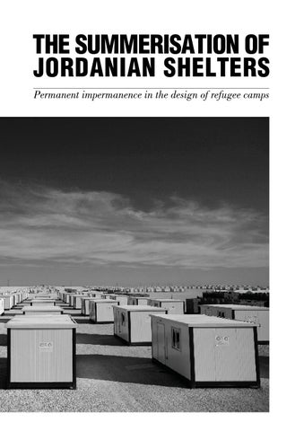 The Summerisation of Jordanian Shelters