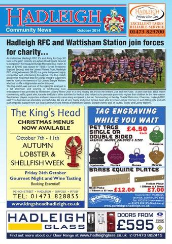 Hadleigh Community News, October 2014 by Keith Avis Printers - issuu