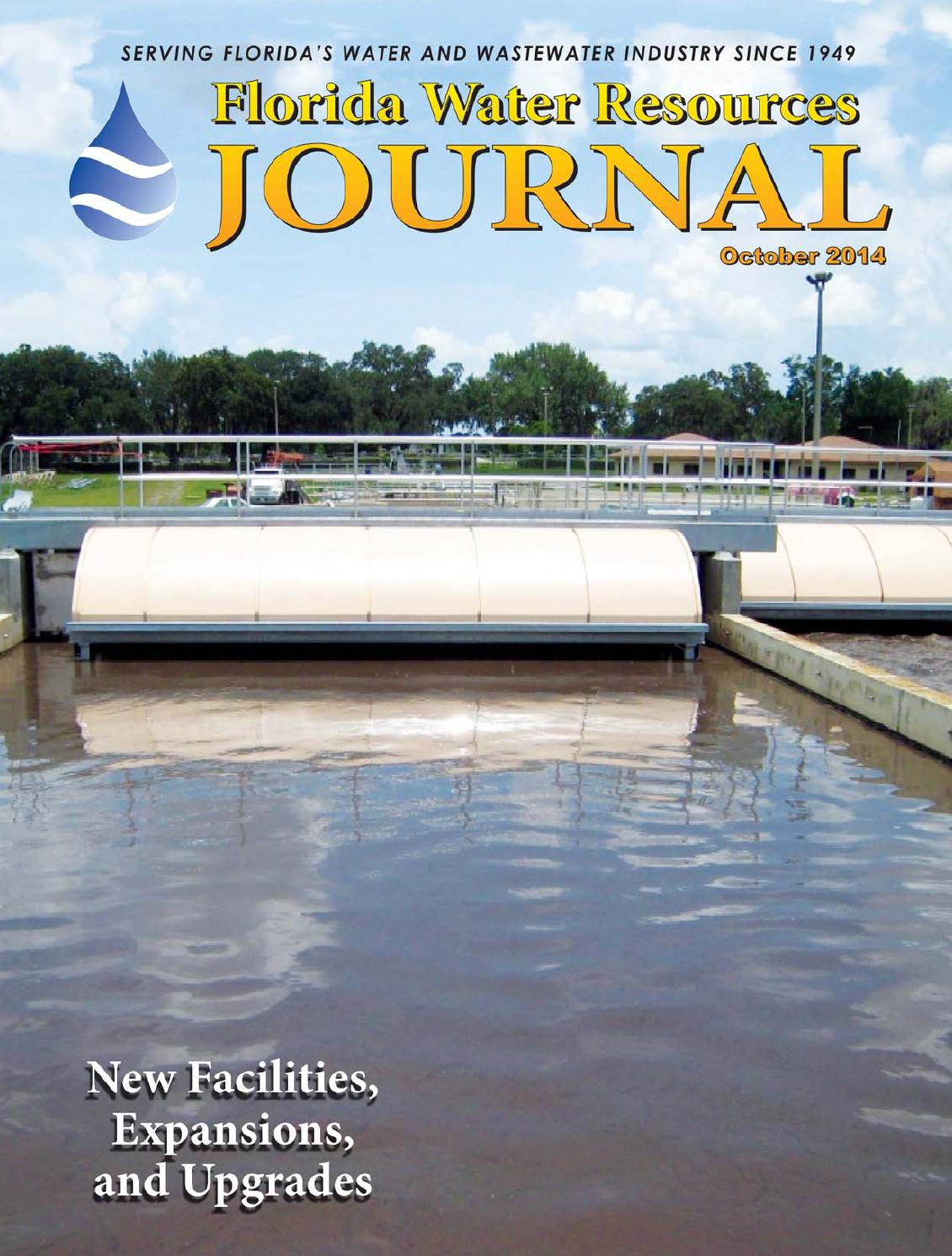 florida water resources journal october 2014 by florida water