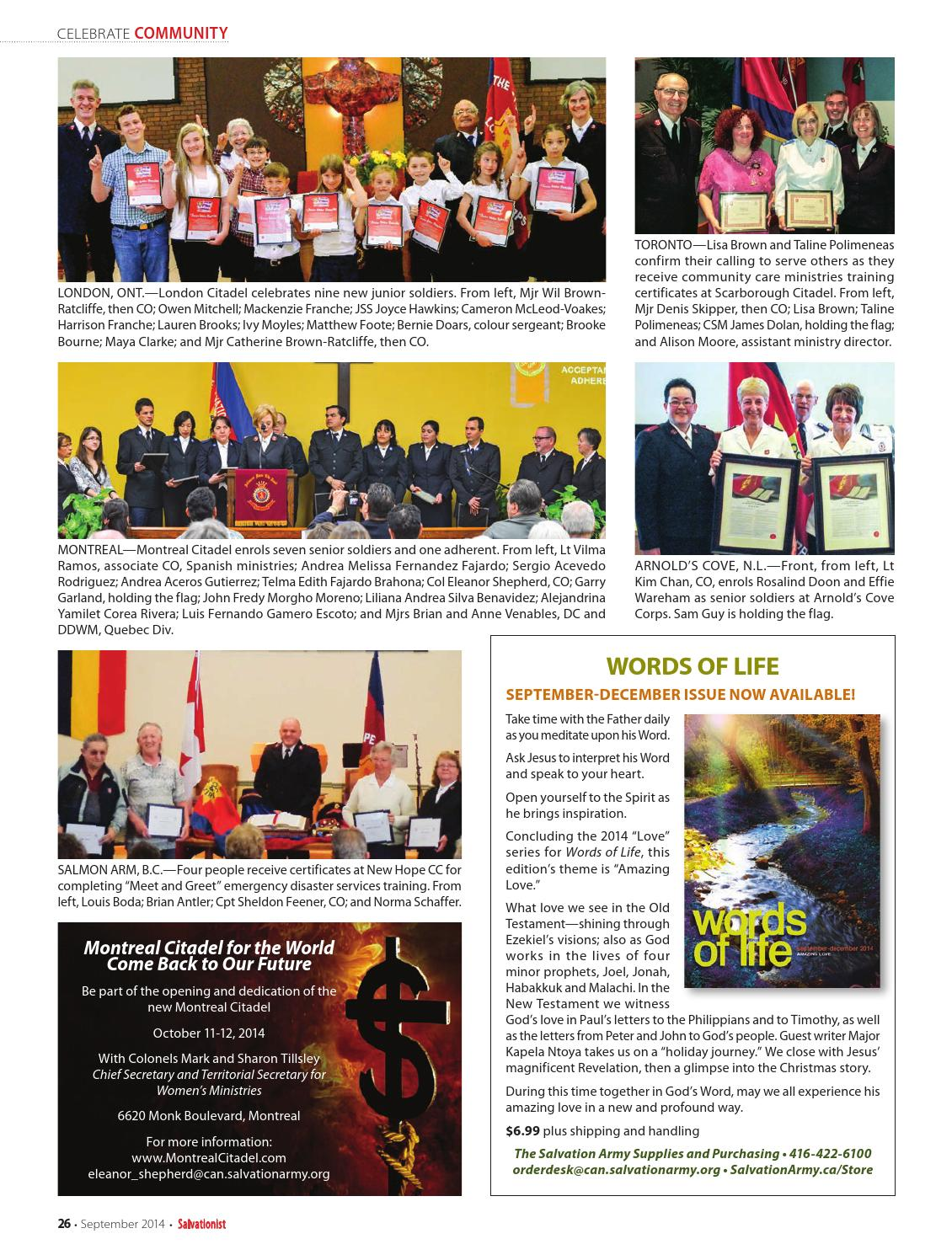 Salvationist - September 2014 by The Salvation Army - issuu