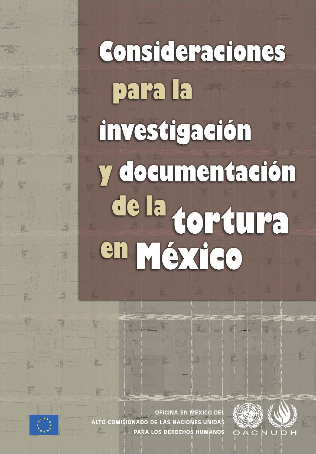 Consideraciones para la investigación y documentación de la tortura ...