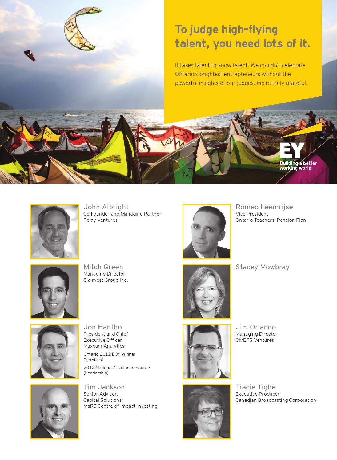 EY Entrepreneur of the Year Ontario - October 2014 by