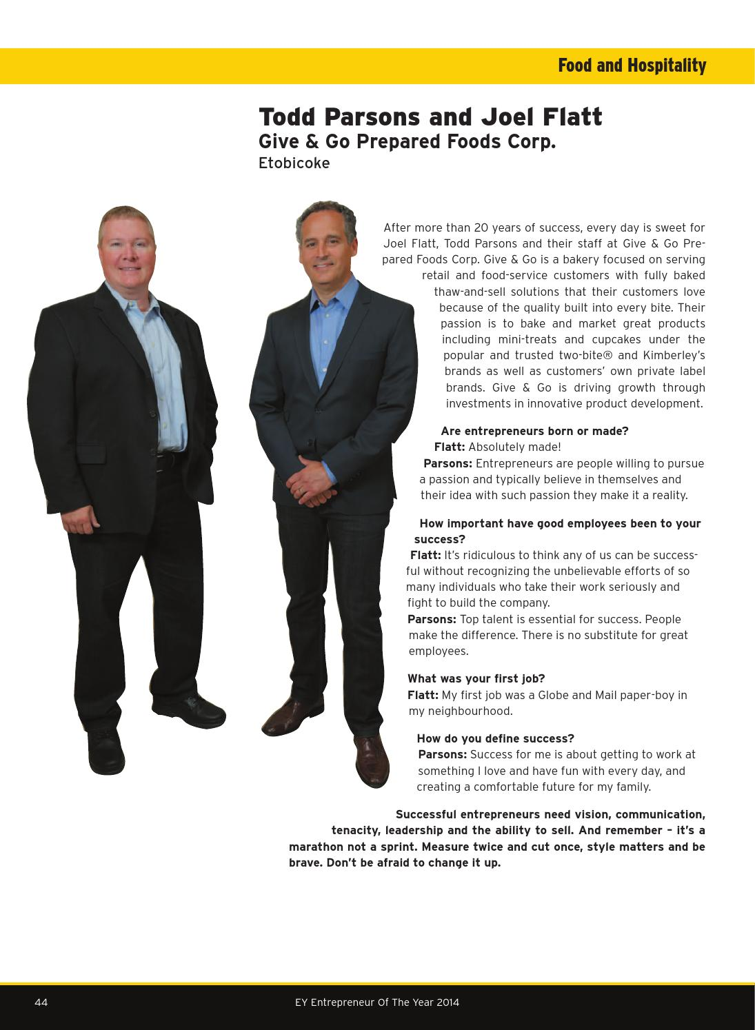 ey entrepreneur of the year ontario october 2014 by business in