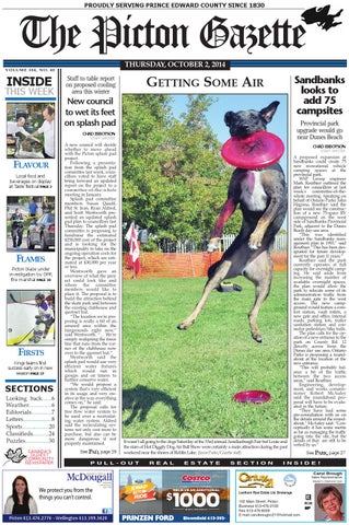 e70adf998b Picton Gazette Oct 2 2014 by The Picton Gazette - issuu