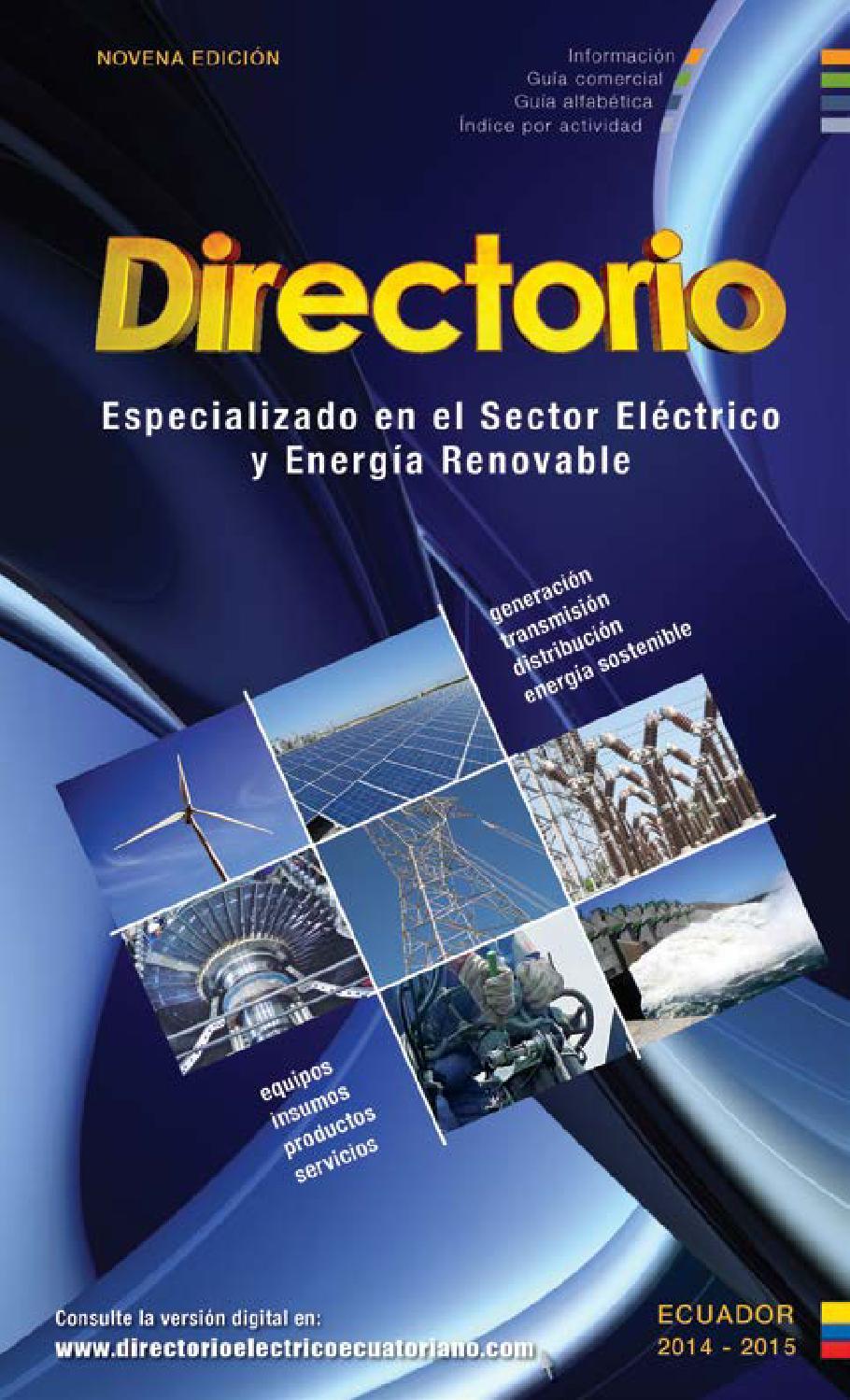 Directorio Especializado En El Sector El Ctrico Y Energ A