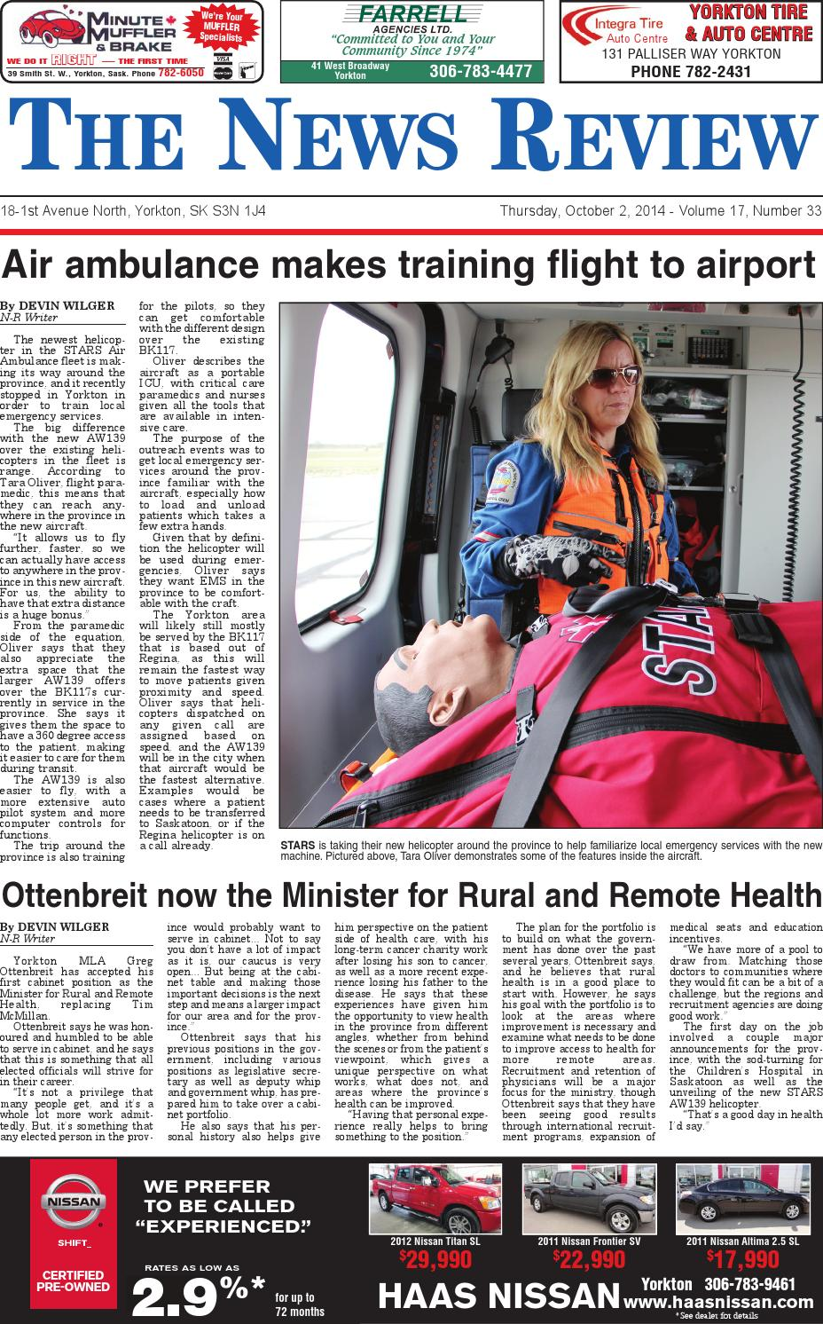 Yorkton News Review October 2, 2014 by Yorkton News Review Archive - Issuu