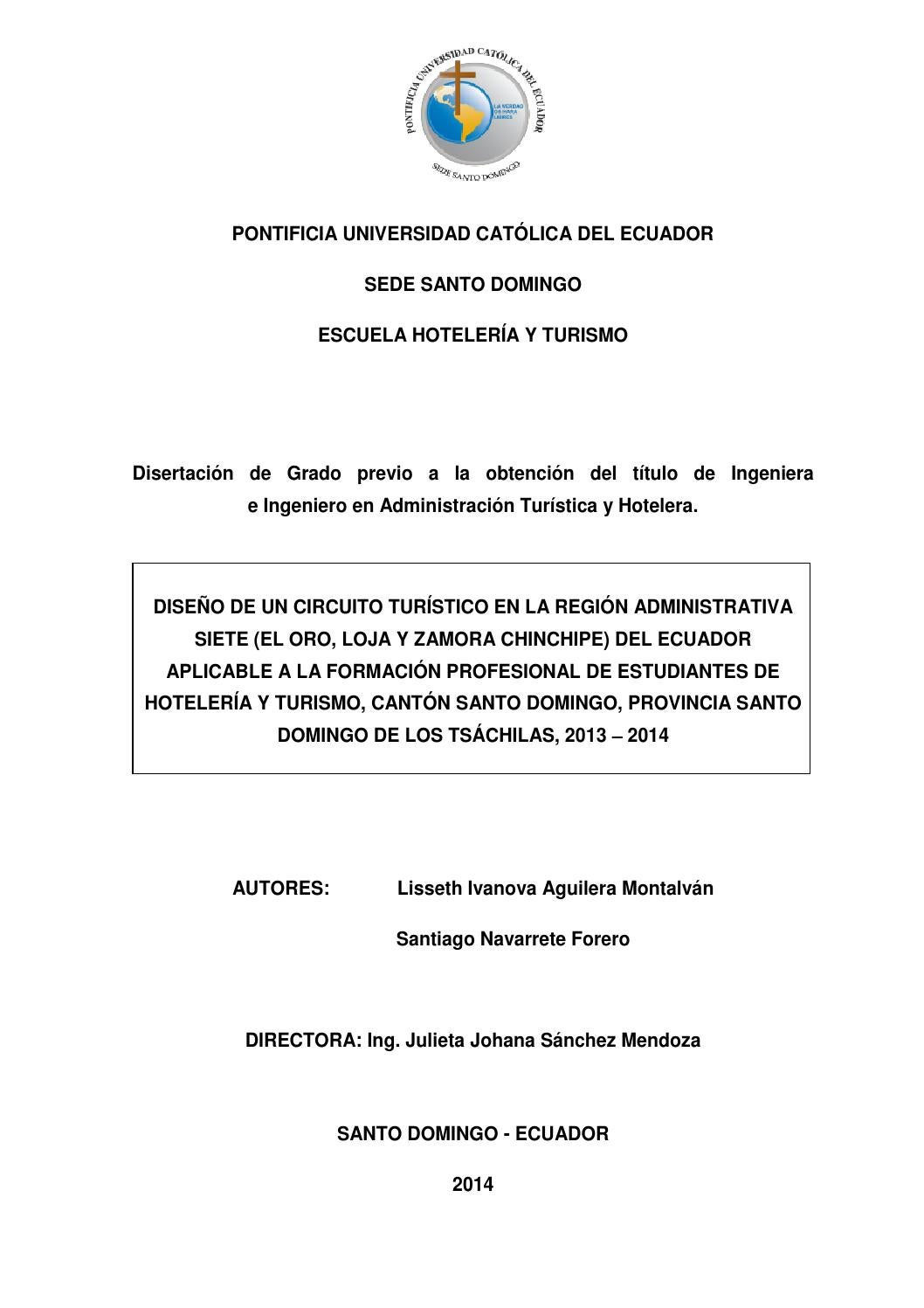 Diseño de un circuito turístico en la región administrativa siete by ...
