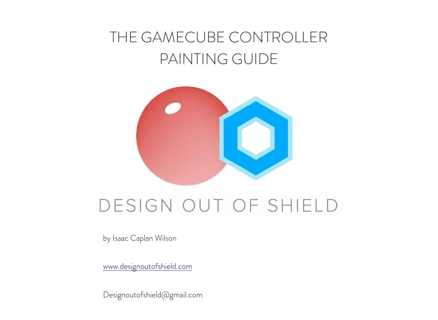 The Gamecube controller painting guide by Design out of ... on