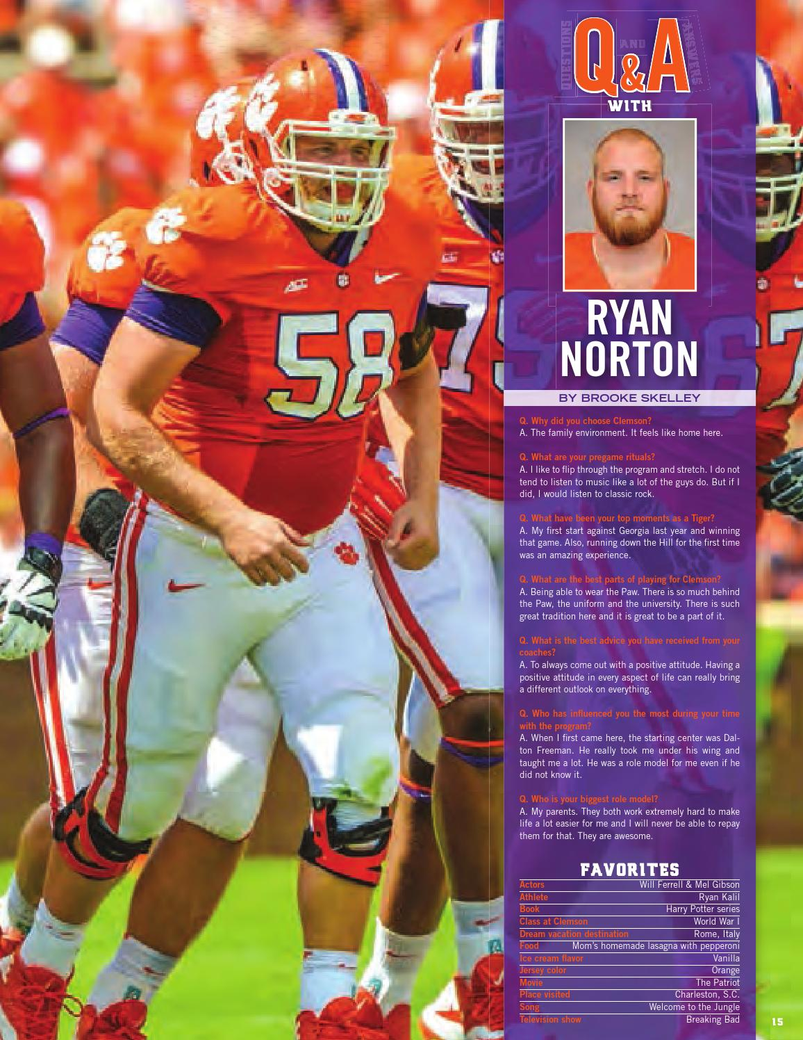 2014 Clemson vs  NC State Football Gameday Program by Clemson Tigers
