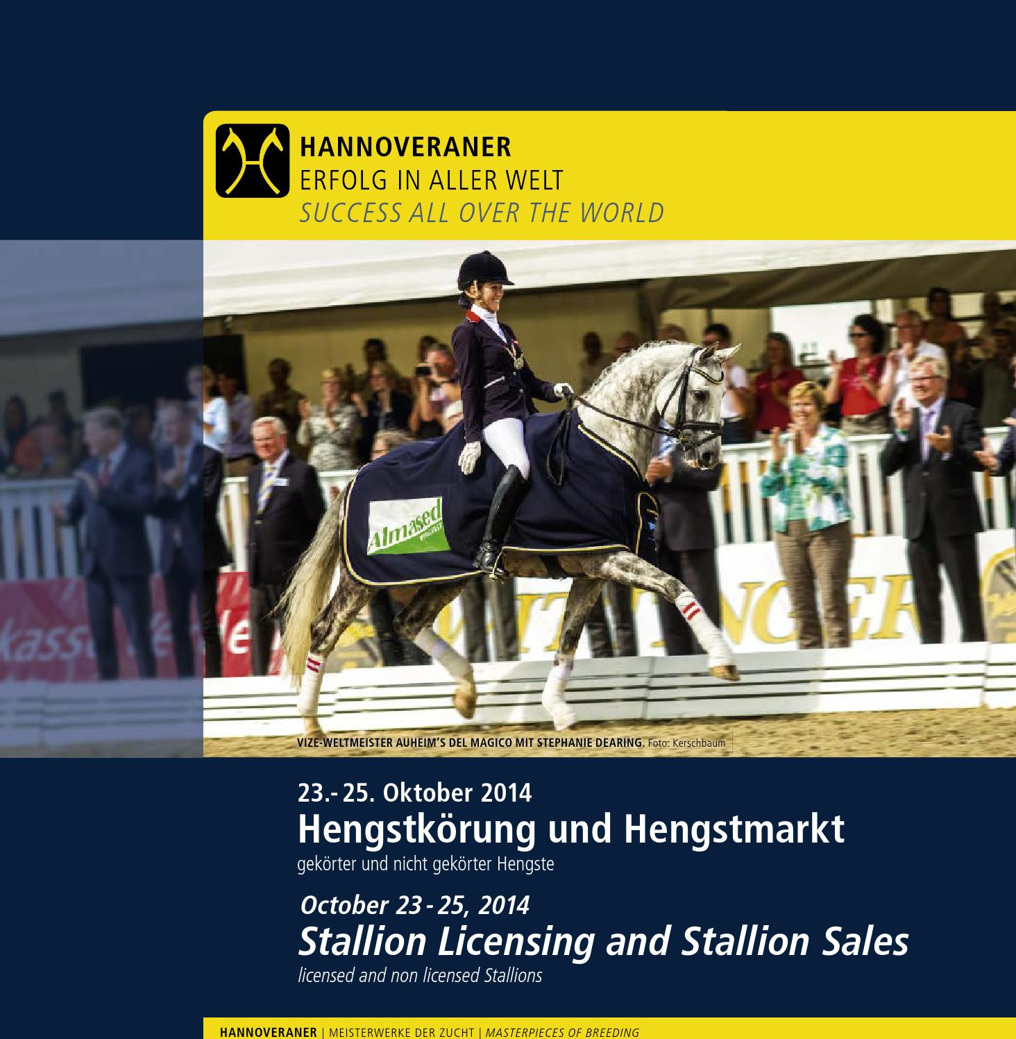 Hengstkörung und Hengstmarkt Hanoverian Stallion Licensing and