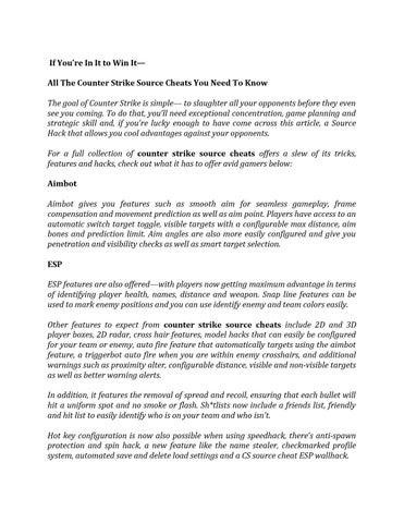 Counter strike source cheats by ilikecheats - issuu