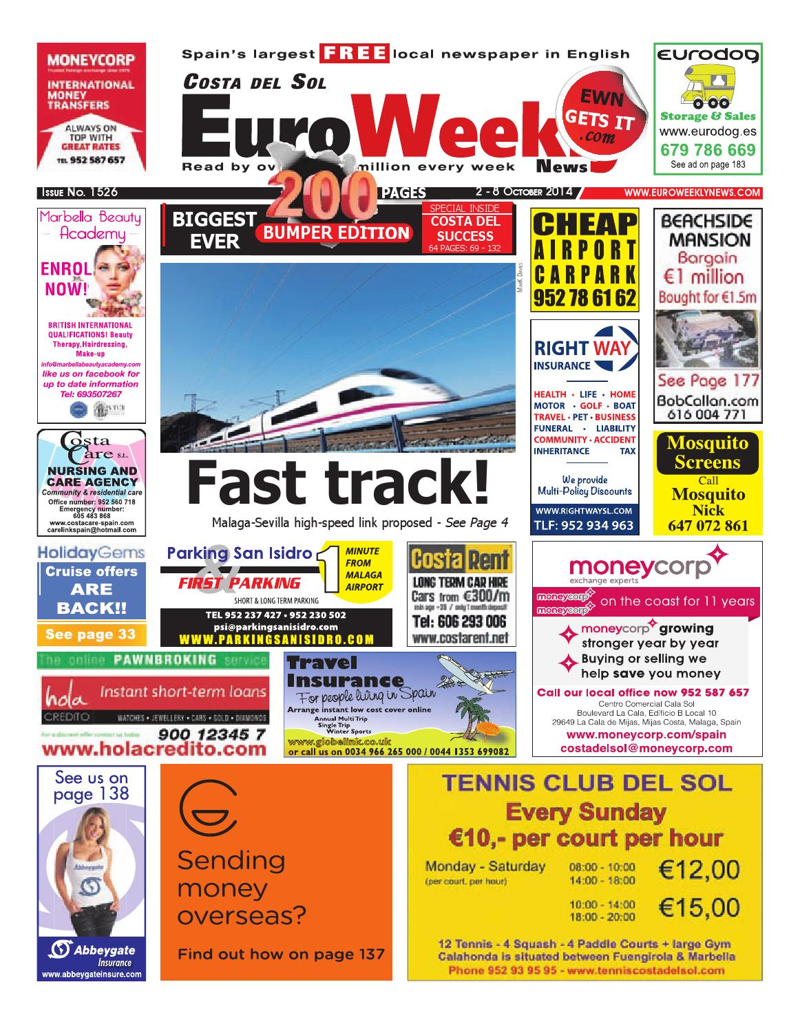 Euro weekly news costa del sol 2 8 october 2014 issue 1526 by euro weekly news costa del sol 2 8 october 2014 issue 1526 by euro weekly news media sa issuu fandeluxe Gallery