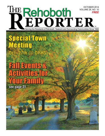 October 2014 Rehoboth Reporter By Dick Georgia