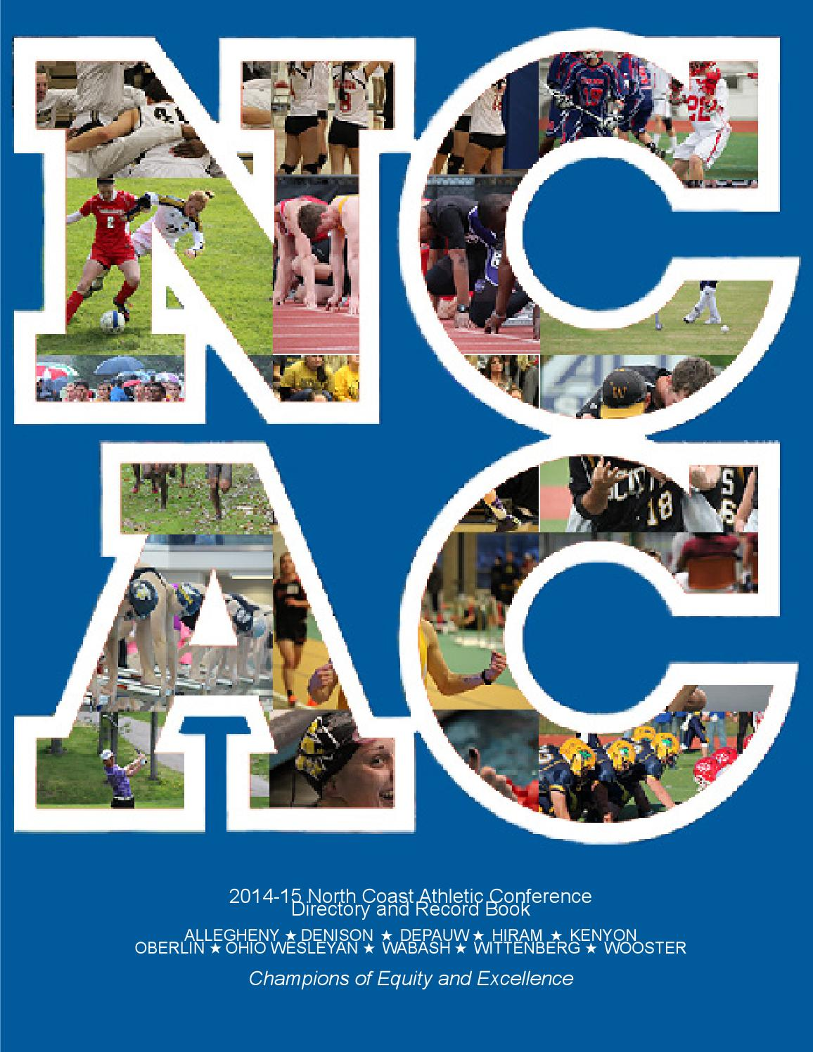 Oberlin Academic Calendar 2022 23.2014 15 Ncac Directory By North Coast Athletic Conference Issuu