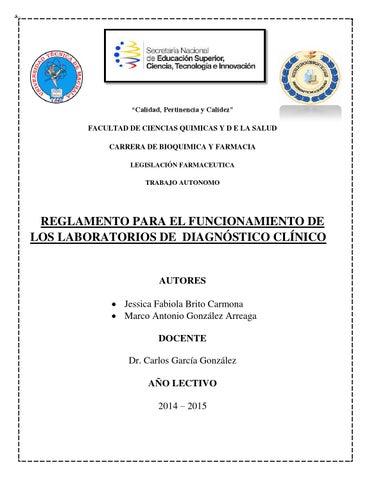 Ambito de aplicacion de los laboratorios clinicos (2) by Nelly ...