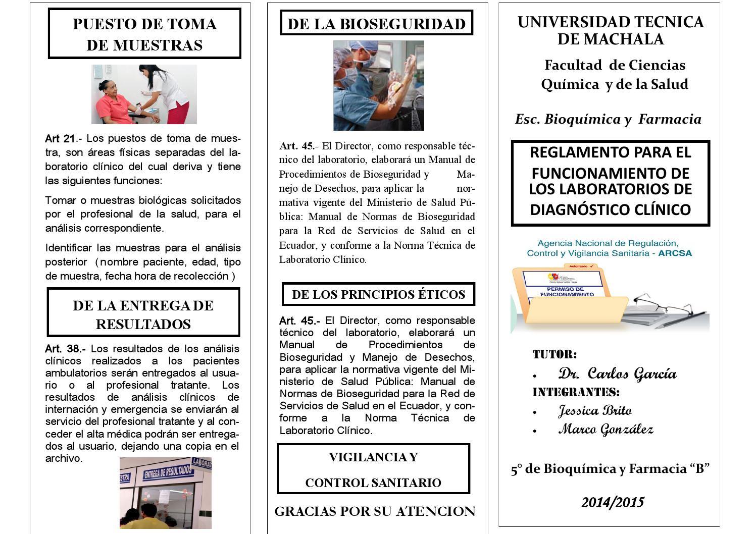 Funciones del tecnico auxiliar de laboratorio clinico